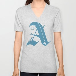 A is for Alice Unisex V-Neck