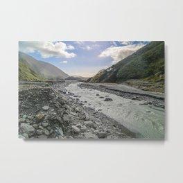 Beyond the Glacier Valley Metal Print