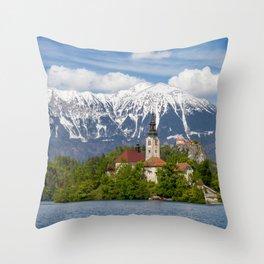 Bled Landscape Throw Pillow