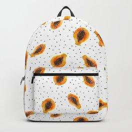 Papaya vibes || watercolor Backpack