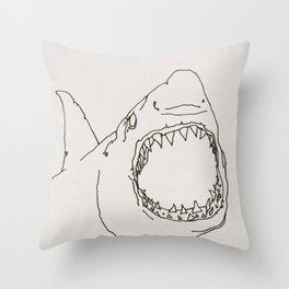 partial shark Throw Pillow