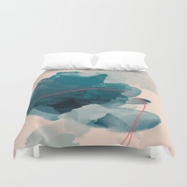 Abstract Lines In A Pool Duvet Cover