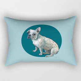 Spotted Frenchie Rectangular Pillow