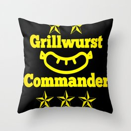 Grill BBQ Dad Barbecue Cook Gift grillmaster Throw Pillow