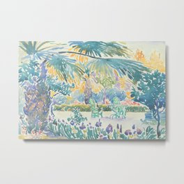 Garden of the Painter at Saint Clair by Henri-Edmond Cross 1908, French Metal Print