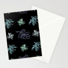 Quercus (black, green) Stationery Cards