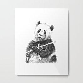 Giant Panda Drawing Metal Print