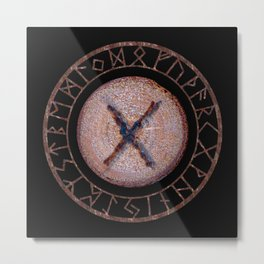 Gebo - Elder Futhark rune Metal Print
