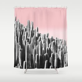 Cactus B&W & Sunset Shower Curtain