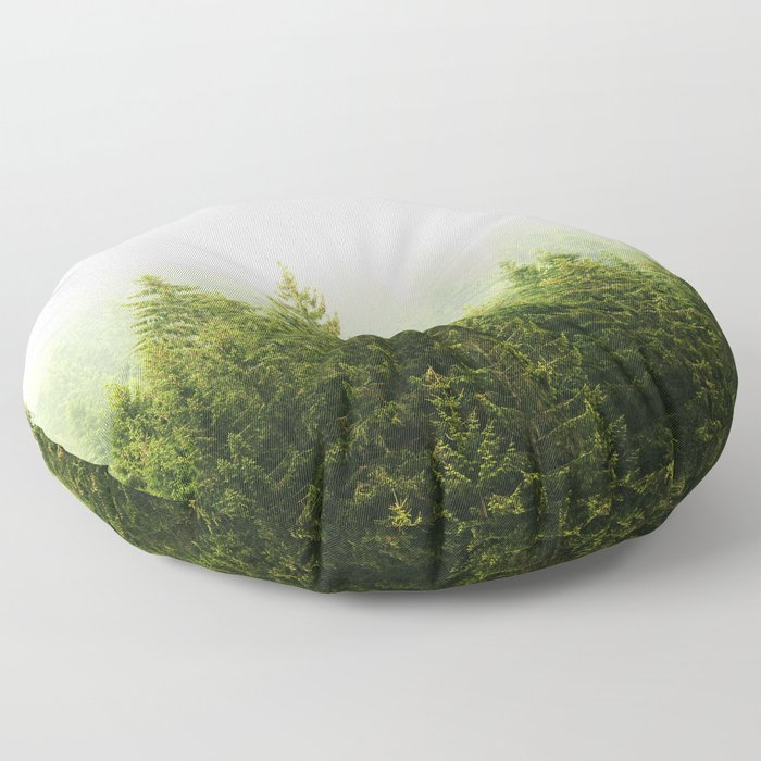 ForestScape Floor Pillow