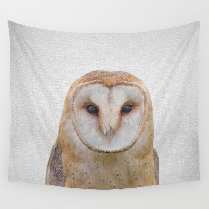 Owl - Colorful Wall Tapestry