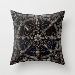 Pretty ornamented gate Throw Pillow