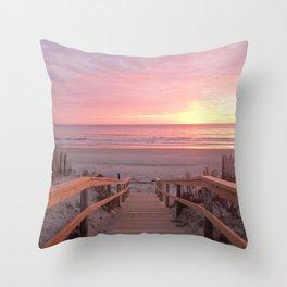 Ogunquit in the morning Throw Pillow