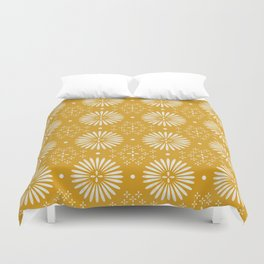 Happy Sunshine - yellow art, sunshine, boho art, bohemian, tile, home decor, yellow, yellow art print Duvet Cover