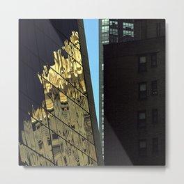 Reflections of New York City Metal Print