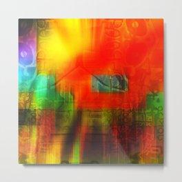 Spectrum Orange Metal Print