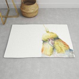 cockatiel in watercolor Rug