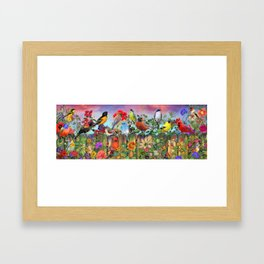 Birds and Blooms Framed Art Print