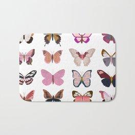 Pink Butterflies Bath Mat