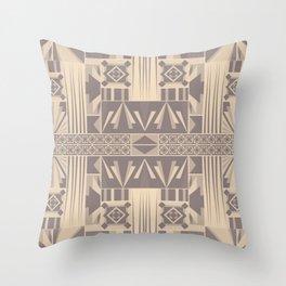 Art Deco Abstract Soft Beige Grey Throw Pillow