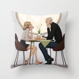 A cup of tea Throw Pillow