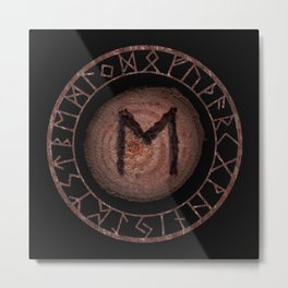 Ehwaz Elder Futhark Rune Strength, reliability, dependability, trustworthiness. Enlightenment Metal Print