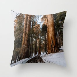 Walking Sequoia 5 Throw Pillow