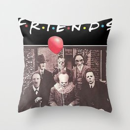 Psychodynamics Horror Throw Pillow