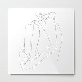 one line nude - sacrament Metal Print