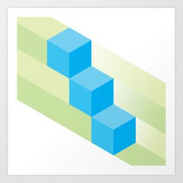 The Geometric - Four Art Print