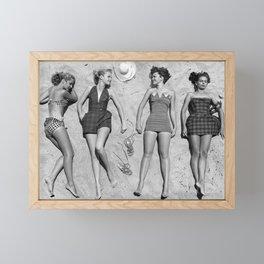 4 Girls Sunbathing Framed Mini Art Print