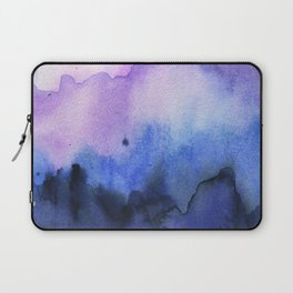 Abstract Mountains Purple Watercolor Laptop Sleeve
