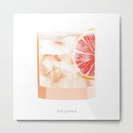 Cocktail Hour: Paloma Metal Print