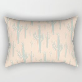 Peachy Arizona Saguaros Rectangular Pillow