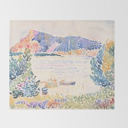 Cap Nègre by Henri-Edmond Cross 1909, French Throw Blanket
