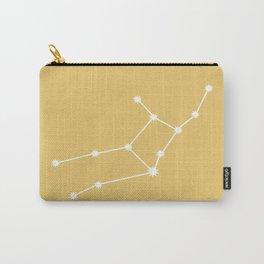 Virgo Zodiac Constellation - Golden Yellow Carry-All Pouch