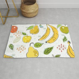 Apples Bananas and Pears Rug