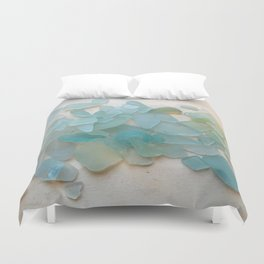 Ocean Hue Sea Glass Duvet Cover