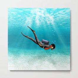 S.C.U.B.A. Diver Metal Print