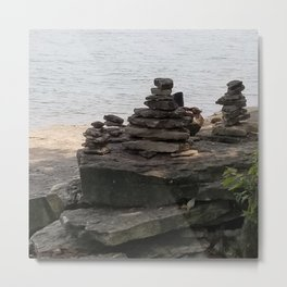 Rock balancing Metal Print