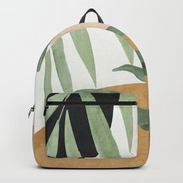 Abstract Art Tropical Leaves 4 Backpack