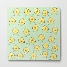Lil Chicks Pattern Metal Print