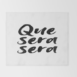 Que sera sera, French Quote, Home Decor, Wall Art, French Poster Throw Blanket