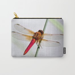 Watercolor Dragonfly, Flame Skimmer 01, Ventana Canyon, Arizona Carry-All Pouch
