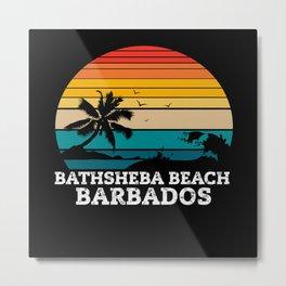 BATHSHEBA BEACH BARBADOS Metal Print