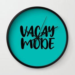 Vacay Mode Wall Clock