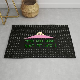 Flying saucer 8 – Now you have seen an Ufo ! Rug