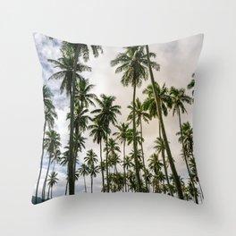 Palm Trees Kauai Hawaii Printable Wall Art | Tropical Beach Nature Ocean Coastal Travel Photography Print Throw Pillow