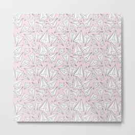 Paper Airplanes Blush Metal Print