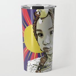 A little Tibetan girl Travel Mug